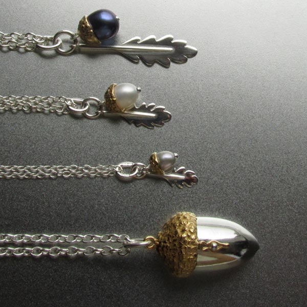 Acorn pendants pearl jewellery amanda cox designer jewellery mozeypictures Choice Image